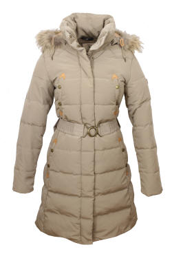 Aigle Ladies Downshine Duck Down Coat Figue - Red Rae Town &amp Country