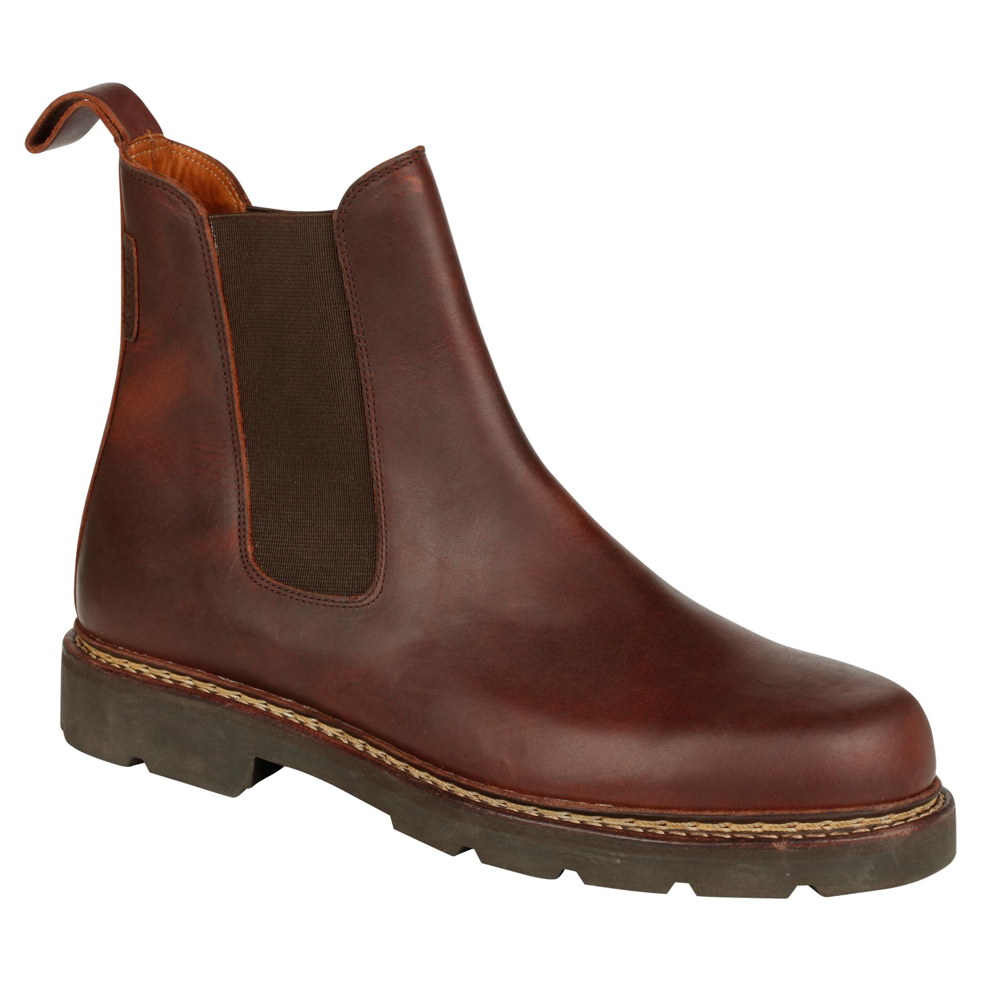 aigle mens quercy dealer boot redwood brown town