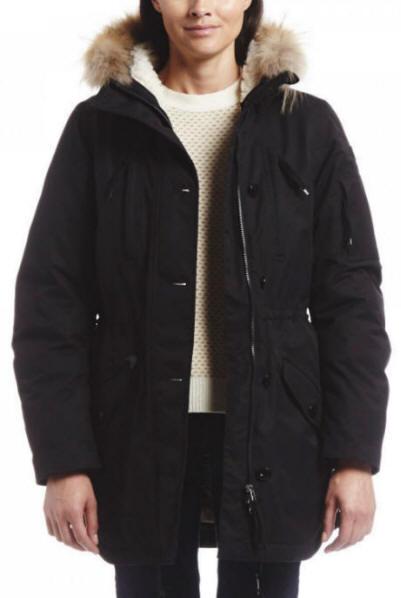 42069be1f Aigle Ladies Storydown Gortex Jacket Noir Black - Red Rae Town & Country