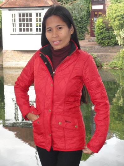 Barbour Ladies Cavalry Polarquilt Jacket Red lqu0087re51 - Red Rae ... : red barbour quilted jacket - Adamdwight.com