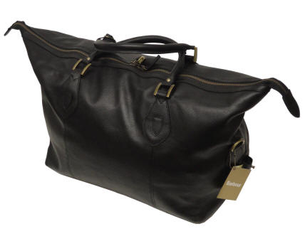 f6b1c8469e6 Barbour Leather Travel Explorer Bag Black | Red Rae Town & Country ...