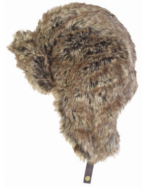 Mens Barbour Fur Hunter Hat - Brown