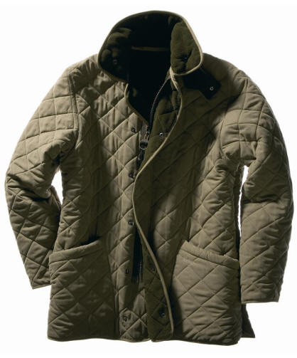 Barbour Mens Microfibre Quilt Jacket Red Rae Town Country With