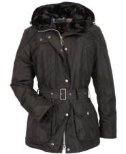 Womens Barbour Outlaw Waterproof Jacket - Black