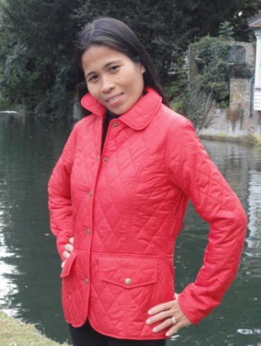 Ladies tailor quilted jacket