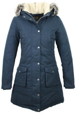 Barbour Ladies Wrest Waterproof Coat Navy Lwb0300ny71
