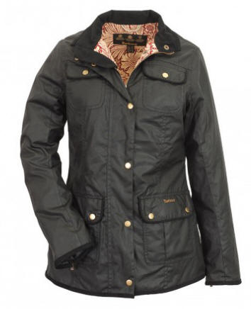 Barbour Ladies Black Morris Utility Waxed Jacket Black