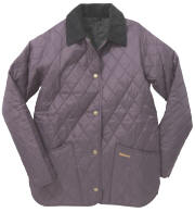 Barbour Ladies Shaped Liddesdale Quilted Jacket- Grape