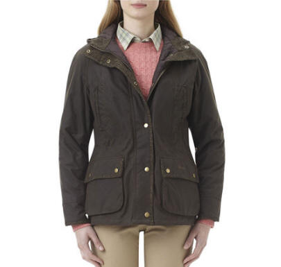 Barbour Ladies Elkhorn Wax Jacket Olive Lwx0312ol71