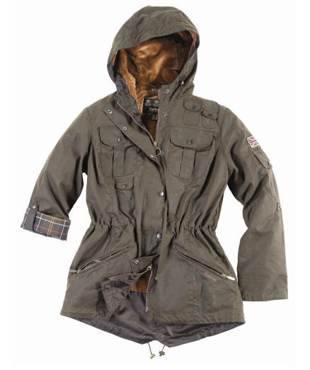 Barbour Ladies Winter Force Waxed Parka Jacket - Barbour Jackets ...
