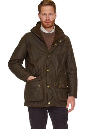 Barbour Mens Waxed Winter Durham Jacket Olive