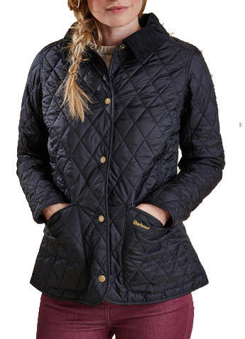Ladies Black Quilted Coat