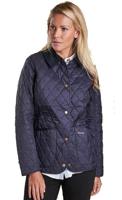 Barbour Ladies Annadale Quilted Jacket Navy Lqu475ny91