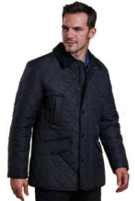 Barbour Mens Moss Quilted Bomber Jacket Sage Mqu0838sg71
