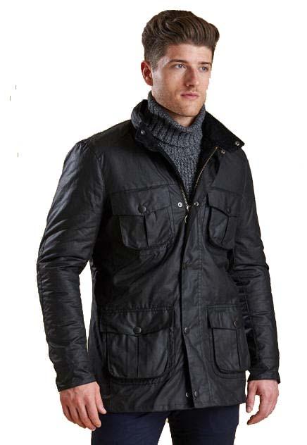 53e34c4048f6f Barbour Mens Corbridge Waxed Jacket - Black MWX0340BK91 | Red Rae ...