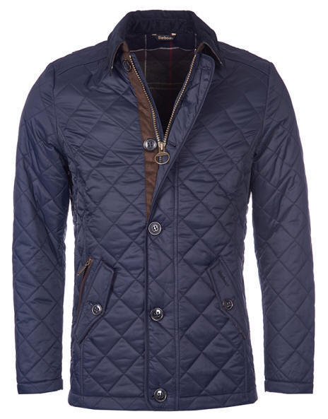 Barbour Blue Quilted Jacket Mens