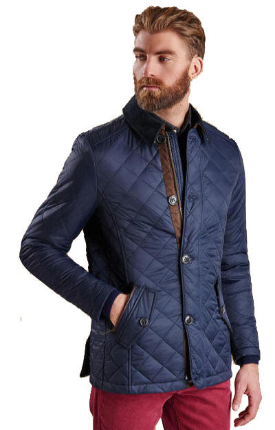 Barbour Fortnum Quilted Jacket Navy Mqu0692ny91 Red Rae