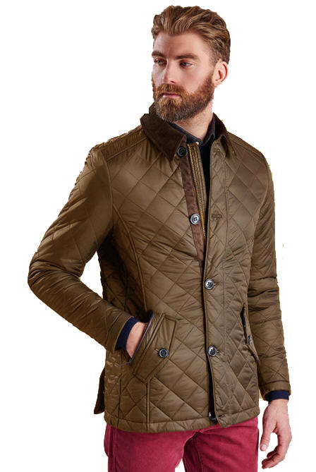Barbour Mens Fortnum Quilted Jacket Olive - MQU0692OL71| Red Rae ... : quilted jacket for mens - Adamdwight.com