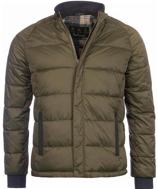 barbour baffle quilted jacket mens