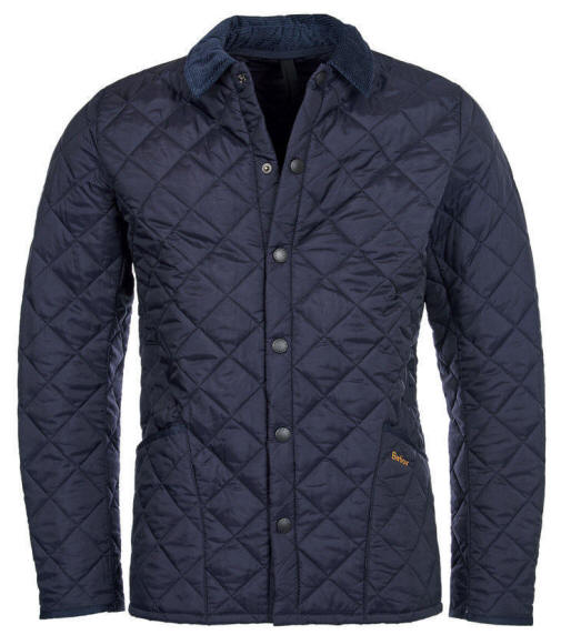 Barbour Mens Heritage Quilted Jacket - Navy MQU0240NY92  4dd61e5d7e