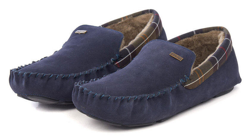 Barbour Mens Monty Slippers Navy
