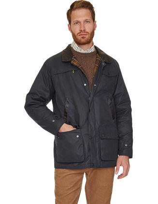 Barbour Mens New Bushman Jacket Navy Mwx0726ol71 Red