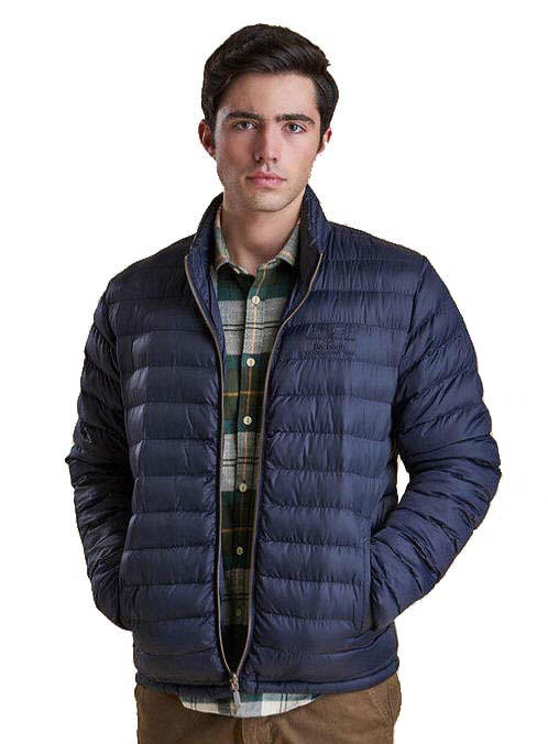 Barbour Mens Templand Baffle Quilted Bomber Jacket Navy Mqu0801ny91