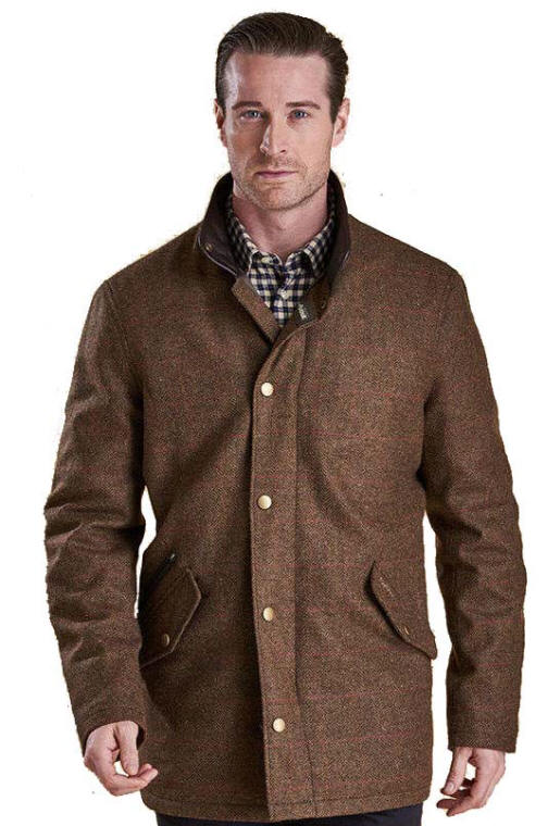 att köpa lägsta rabatt Storbritannien tillgänglighet Barbour Mens Wimbrel Wool Jacket - Olive Red Orange MWO0221OL51 ...