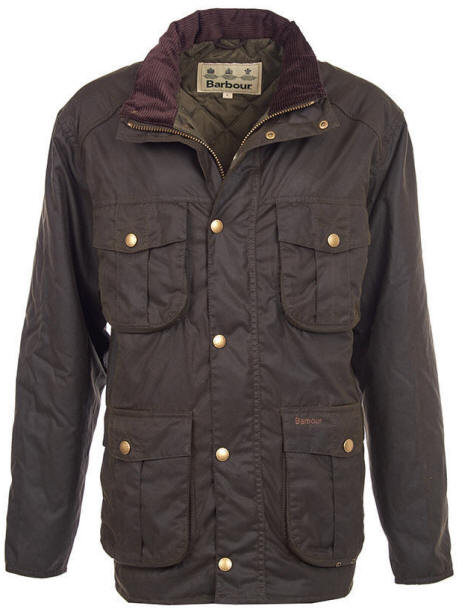 Barbour Quilted Utility Waxed Jacket Mens