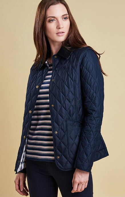 ba10c5f7c6ed8 Barbour Womens Annandale Quilted Jacket Navy - LQU0490NY73