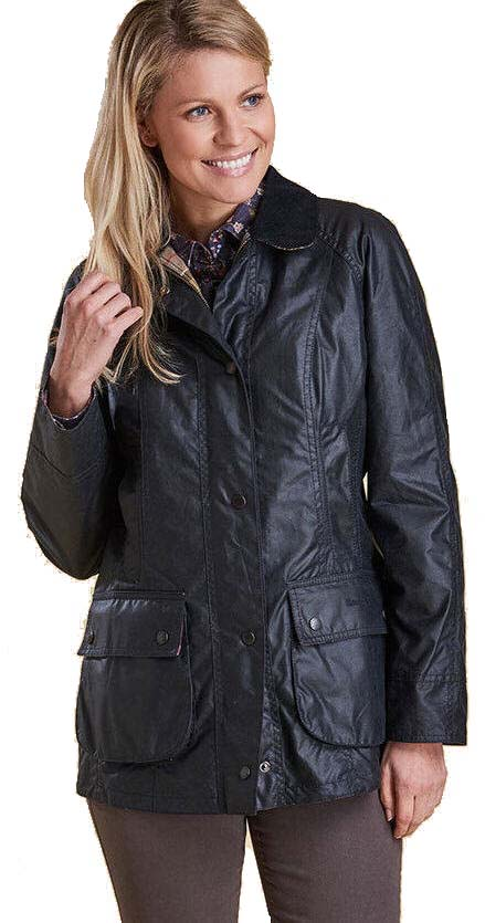 d46a3398f81 Barbour Womens Beadnell Wax Jacket Navy - LWX0667NY91