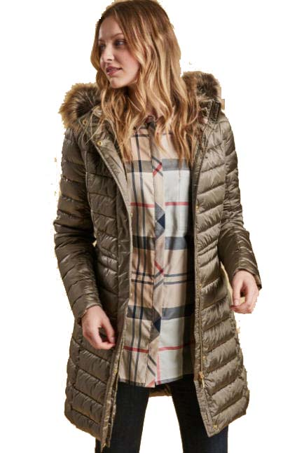Barbour Womens Berneray Quilt Coat Mink Lqu0962be51
