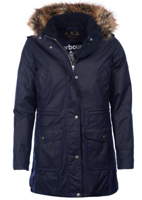 Barbour Womens Bridport Wax Cotton Jacket Navy Lwx0865ny71 Red Rae Town Amp Country