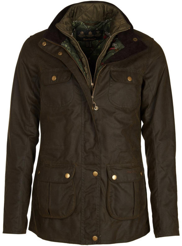 374cd440428 Barbour Womens Chaffinch Wax Jacket Olive - LWX0876OL51