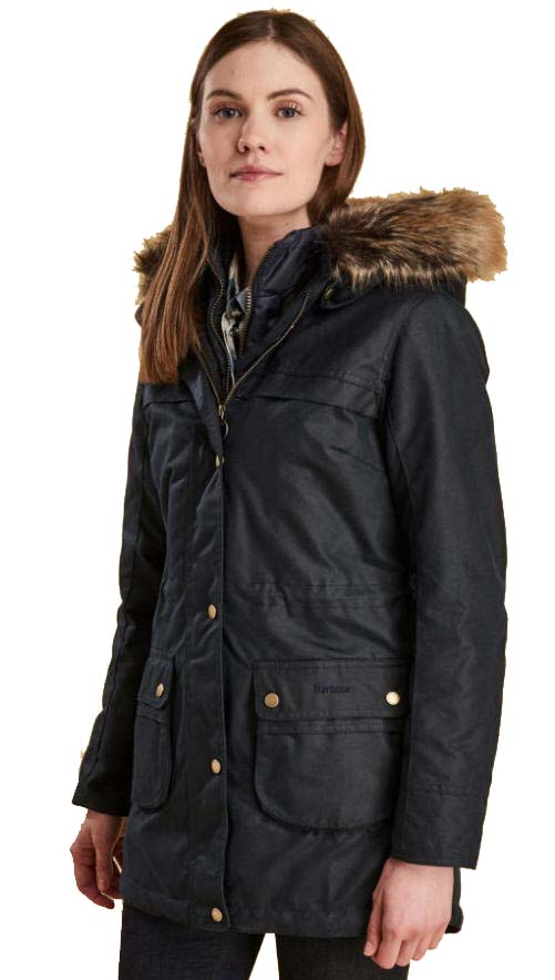 91d934e30 Barbour Womens Dartford Wax Jacket Navy - LWX0879NY51 | Red Rae Town ...