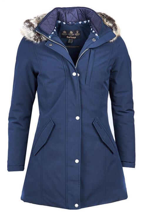 Barbour Womens Epler Waterproof Breathable Jacket Navy