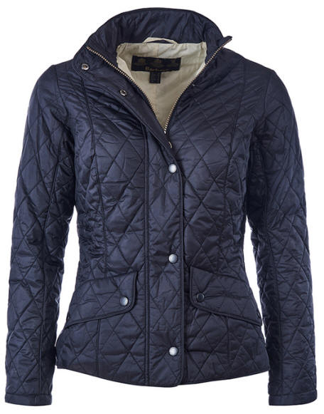 Barbour Ladies Flyweight Cavalry Quilted Jacket Navy