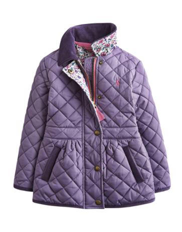 Joules Girls Jinity Quilted Jacket Aubergine | Red Rae Town & Country