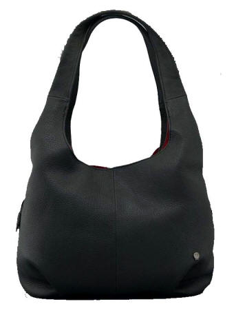 Yoshi Ladiies Meehan New Black Leather Shoulder Bag - Red Rae Town    Country - Free Deliivery ! 6b4c4d7af5