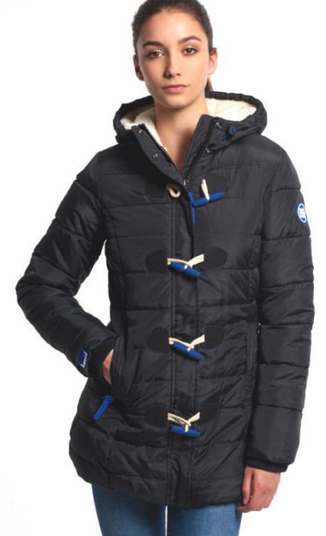 Superdry Womens Aspen Puffle Jacket Black