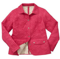 Womens Barbour Fauna Quilted Jacket - Navy