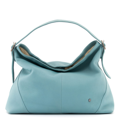 5f460b8a0640 Yoshi Wilmott Duck Egg Blue Leather Slouch Shoulder Bag - Red Rae ...