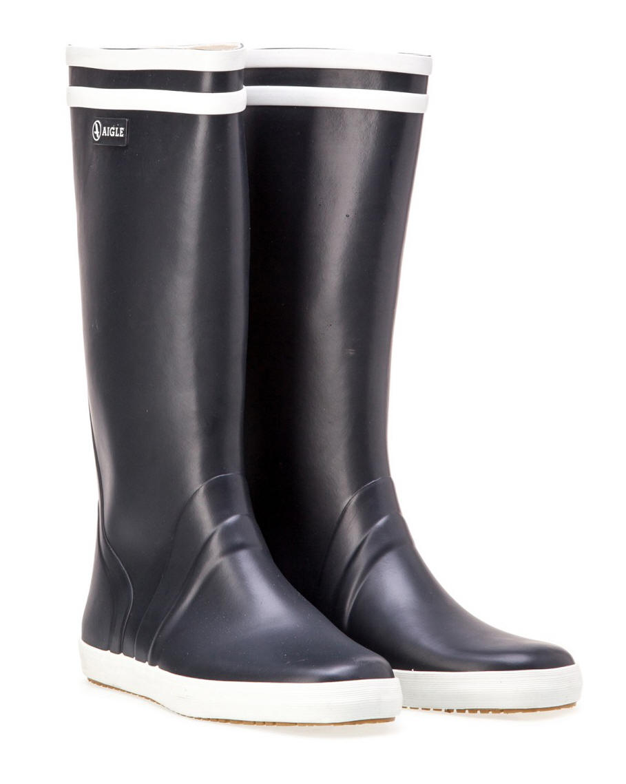 Aigle Goeland Sailing Boot Navy Red Rae Town Amp Country