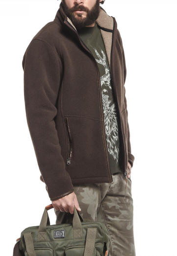 Men Fleece Jacket Aigle New Garrano