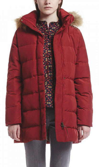 Aigle Ladies Downshine Duck Down Coat Bordeaux Red - Red Rae Town ...