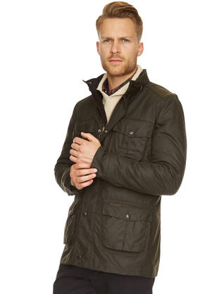 Barbour Corbridge Wax Olive Jacket Mwx0340ol71 Red Rae