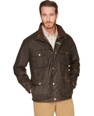 mens barbour wax jacket