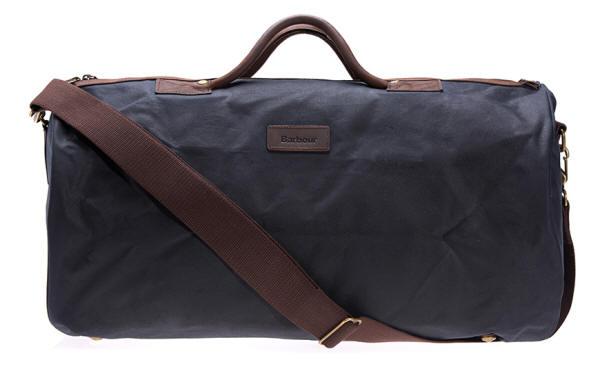 Barbour Wax Cotton Holdall Bag Navy UBA0017NY91