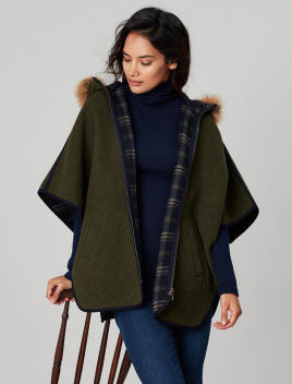 Joules Costello Wool Blend Coat Navy Check | Red Rae Town