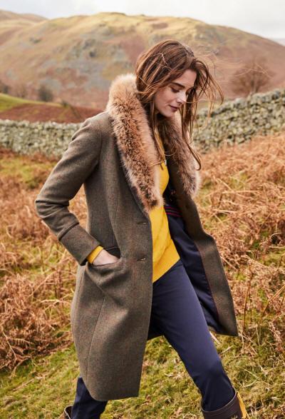 joules langley tweed coat